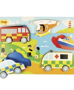 Puzzle carros emergencia