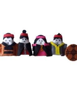 Familia titeres de dedo mapuche 4 piezas